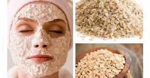 Геркулесовая маска для очищения лица