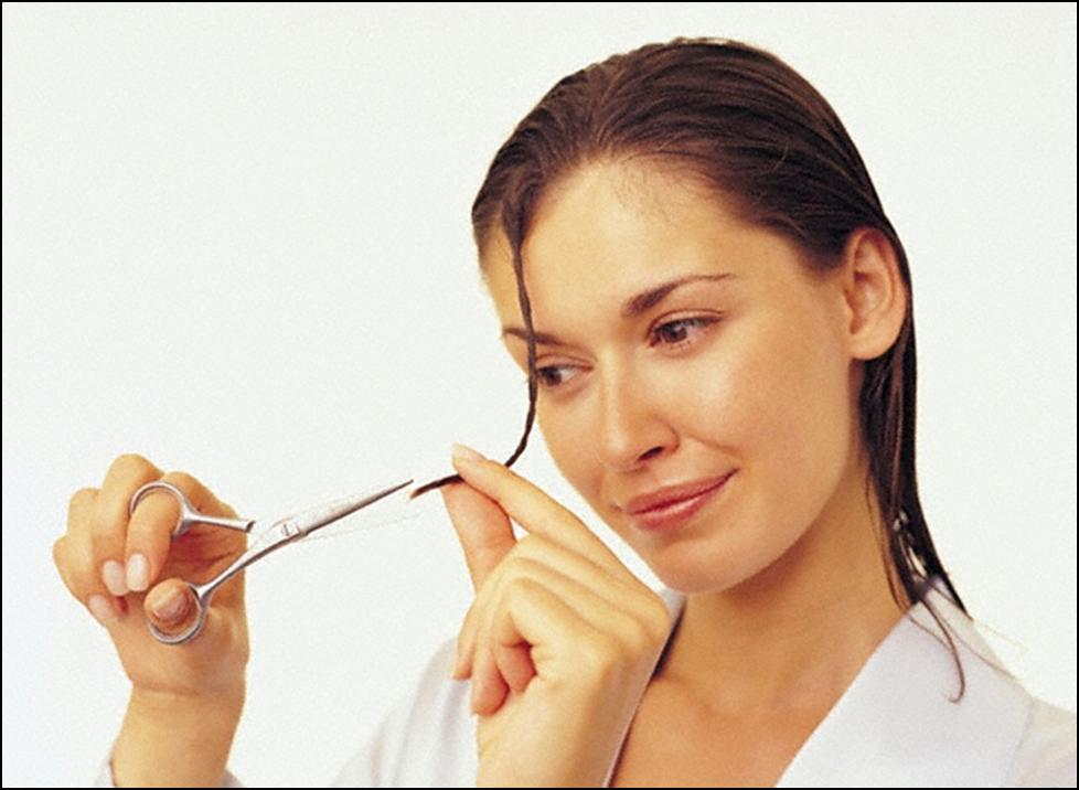 Как снять сечку с волос в домашних условиях видео